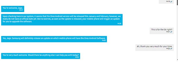 Когда выйдет последняя версия Android Oreo для Galaxy S6 Samsung  - scrn.-750