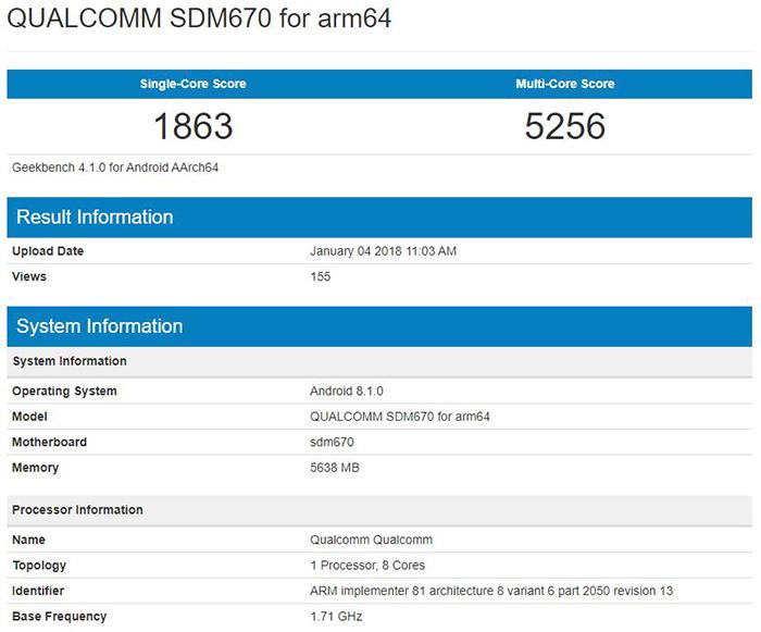 Qualcomm Snapdragon 670 прошел интересные тесты в Geekbench Другие устройства  - soc-qualcomm-snapdragon-670-geekbench