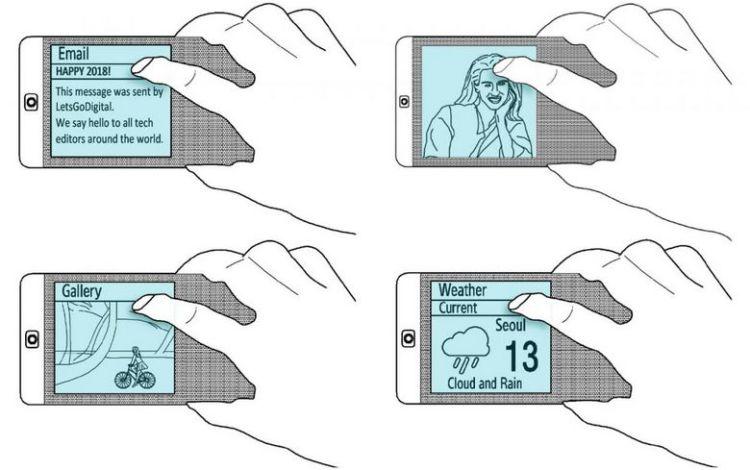 Samsung хочет развать основную идею YotaPhone и Meizu Pro 7 Samsung  - wipo.-750