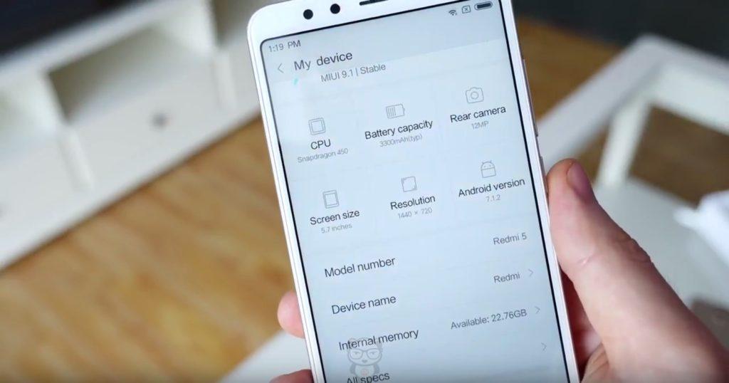 Актуальная прошивка для Xiaomi версии 9.0.2.0 - 9.1.2.0 Xiaomi  - xiaomi-redmi-5-foto-miui9-1024x538