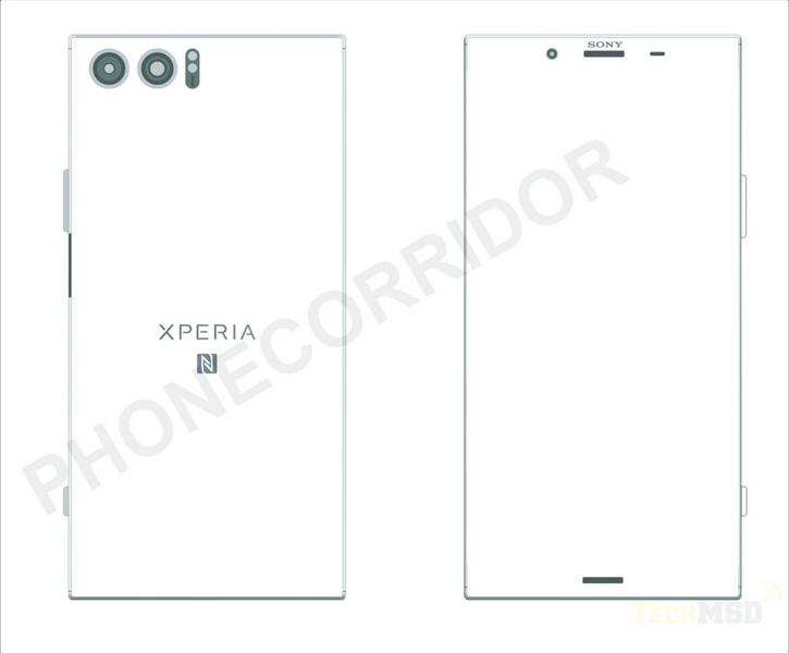 Схематические рисунки Sony Xperia XZ Pro с двойной камерой Другие устройства  - xperia_xz_pro_scheme
