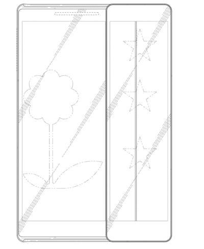 Samsung запатентовал необычный слайдер с двумя экранами Samsung  - Samsung-Patent-Sliding-Display-Phone-1-400x489