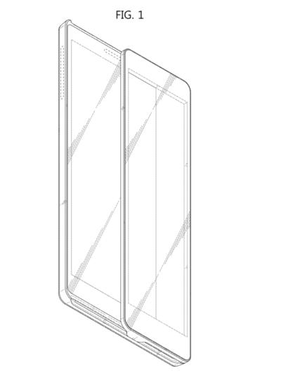 Samsung запатентовал необычный слайдер с двумя экранами Samsung  - Samsung-Patent-Sliding-Display-Phone-19-400x552