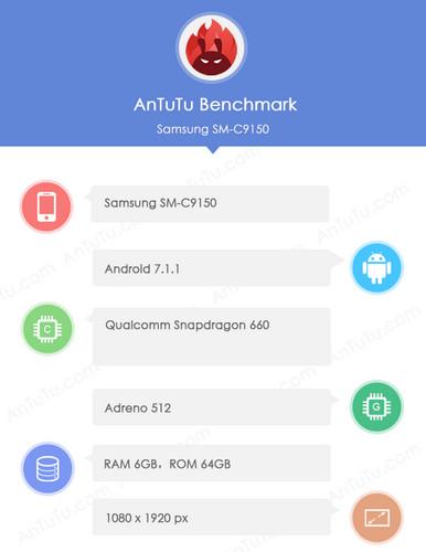 Samsung Galaxy C10 Plus на чипе Snapdragon 660 был замечен в AnTuTu Samsung  - antutu-galaxy-c10-plus
