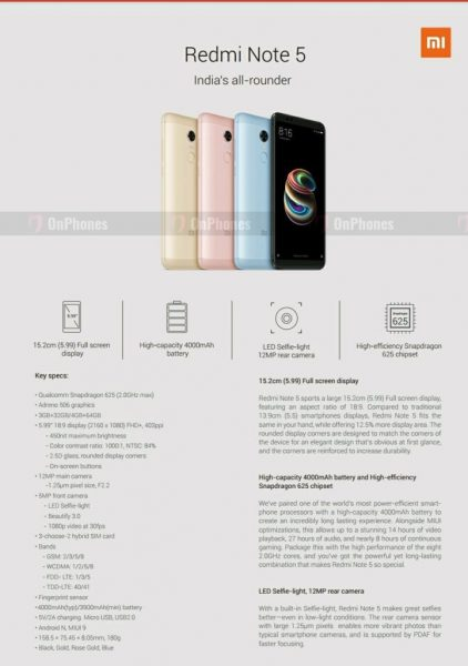 Xiaomi Redmi Note 5 и 5 Pro: Свежие рендеры и характеристики Xiaomi - redmi_note_5_poster_02