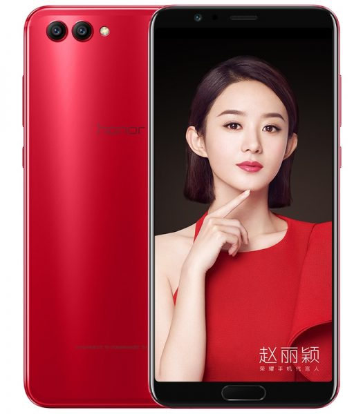 Huawei Honor View 10: красный безрамочный гаджет уже в России Huawei  - honor_view_10_red