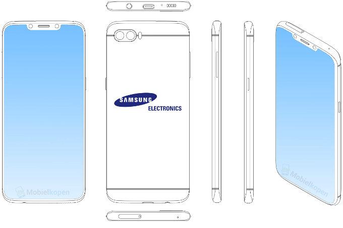 Чудо с монобровью от Samsung. Плагиат или нет? Samsung  - Brace-yourselves-Samsung-is-patenting-notch-y-handset-designs