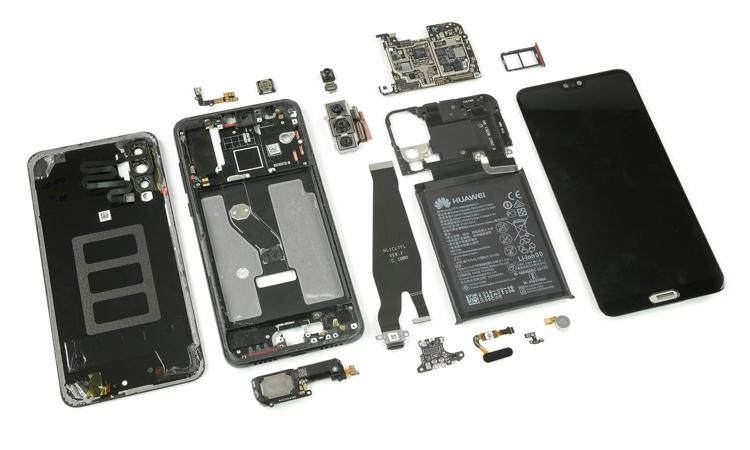 Вскрытие нового Huawei P20 Pro: что скрывает флагман? Huawei  - hu7