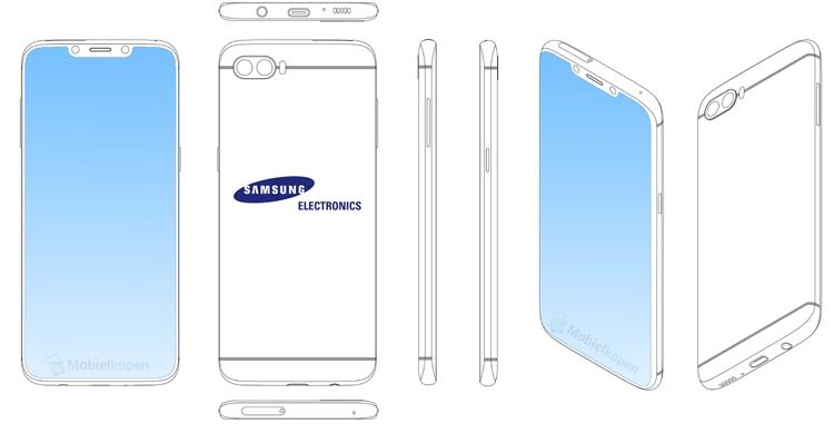 Samsung может выпустить новый Galaxy с вырезом в дисплее Samsung  - sg1