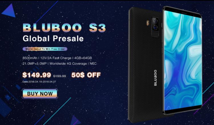 Bluboo S3 с батареей на 8500 мА·ч поступил в продажу + скидка в 50% Другие устройства  - sm.image001.750