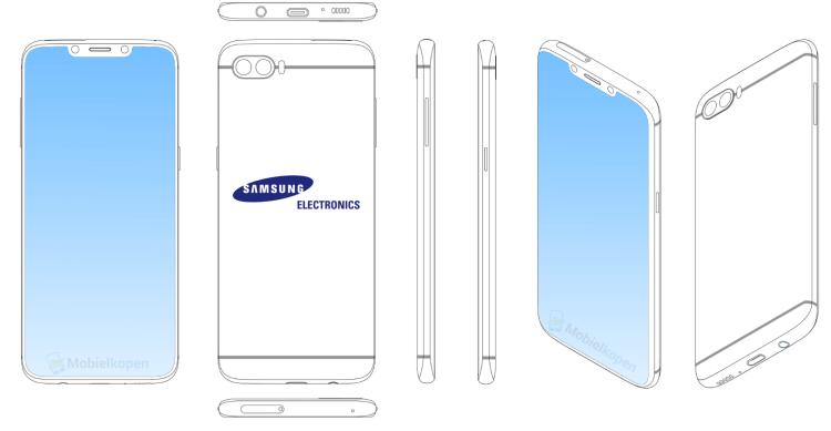 Как Samsung называет свой новый гаджет Galaxy S10? Samsung  - 2_Samsung-notch-patents.-750