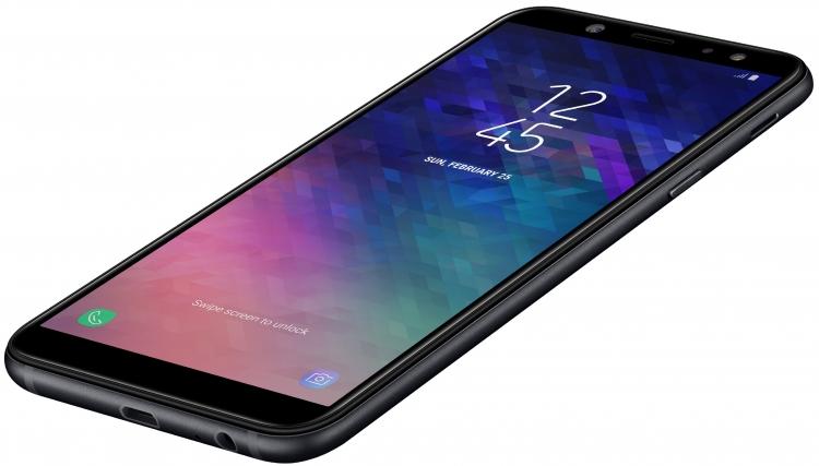Состоялся дебют Samsung Galaxy A6 и Galaxy A6+, что известно? Samsung  - sm.A6_005_Dynamic4_Black.750
