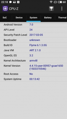 Обзор Meizu Pro 7/Pro 7 Plus: кто сказал не флагман? Meizu  - sm.cpuz_3.265