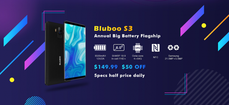 Bluboo S3 со скидкой в $100 на распродаже 12-летия Bluboo Другие устройства  - sm.image003.750