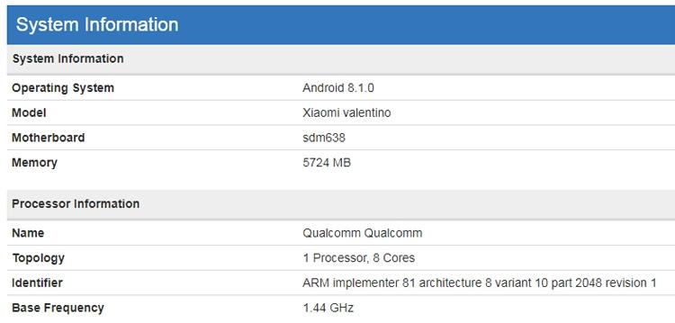 Xiaomi разрабатывает мобильный гаджет Valentino с процессором Snapdragon Xiaomi  - xim2