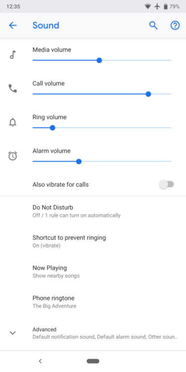 Android P Developer Preview 4. Интересные детали Мир Android  - DP4-Sound.-750