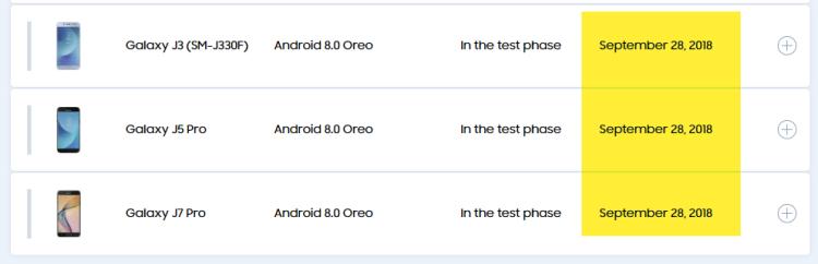 Android Oreo не выйдет на трех популярных смартфонах Samsung Samsung  - Galaxy-Update.-750