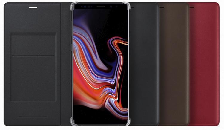 Аксессуары для нового Galaxy Note 9: чехлы, зарядная станция Samsung  - sa7