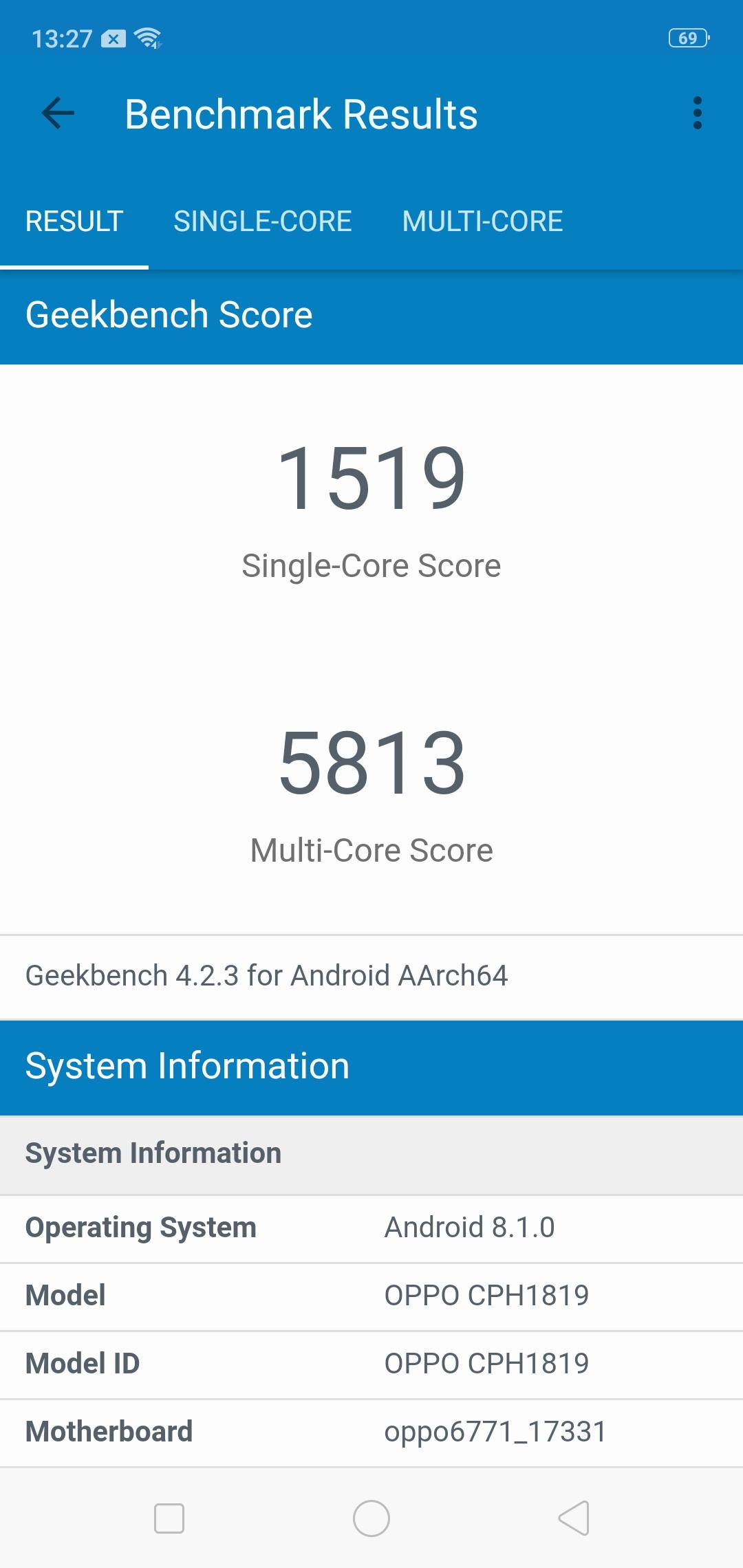 Тест чипа MediaTek Helio P60 на примере смартфона OPPO F7 Другие устройства  - screens_p60_01