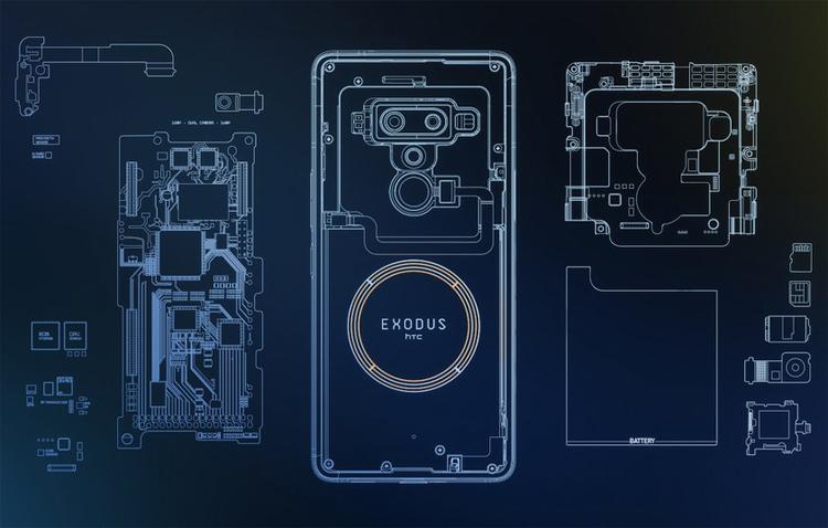 HTC Exodus 1: блокчейн-смартфон за биткоины HTC  - htc3