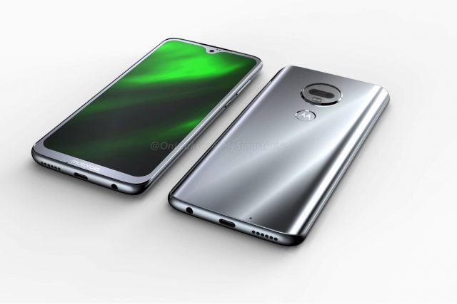 Moto G7: характеристики и пресс-изображения Другие устройства  - Leaked-Moto-G7-renders-reveal-waterdrop-notch-and-rear-mounted-fingerprint-scanner-640x427