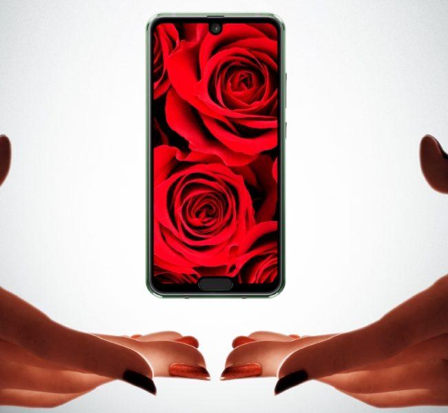 Новый Sharp - смартфон с двумя вырезами в  дисплеем Другие устройства  - sharp1