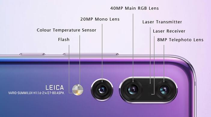 Отличия гаджетов Huawei: Mate 20 против Mate 20 Pro, P20 и P20 Pro Huawei  - Huawei-P20-Pro-cameras