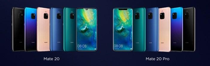 Отличия гаджетов Huawei: Mate 20 против Mate 20 Pro, P20 и P20 Pro Huawei  - Mate-20-and-20-Pro-all-color