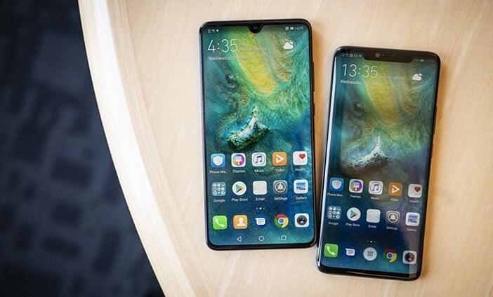 Отличия гаджетов Huawei: Mate 20 против Mate 20 Pro, P20 и P20 Pro Huawei  - Mate-20-and-Mate-20-Pro-front-side