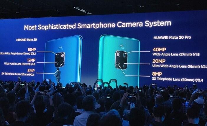 Отличия гаджетов Huawei: Mate 20 против Mate 20 Pro, P20 и P20 Pro Huawei  - Mate-20-vs-Mate-20-Pro-camera