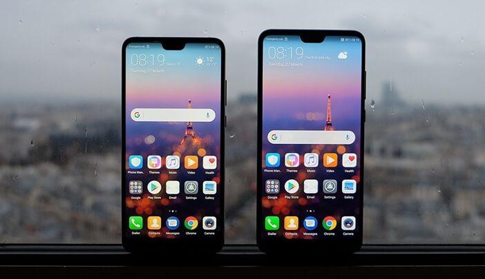 Отличия гаджетов Huawei: Mate 20 против Mate 20 Pro, P20 и P20 Pro Huawei  - P20-and-P20-Pro-front-side