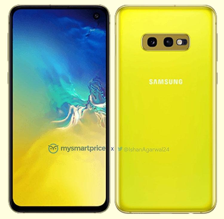 Фото Sаmsung Galaxy S10e в ярко-жёлтой расцветке. Подробности о серии Samsung  - 01-1