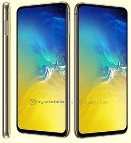 Фото Sаmsung Galaxy S10e в ярко-жёлтой расцветке. Подробности о серии Samsung  - 02-1