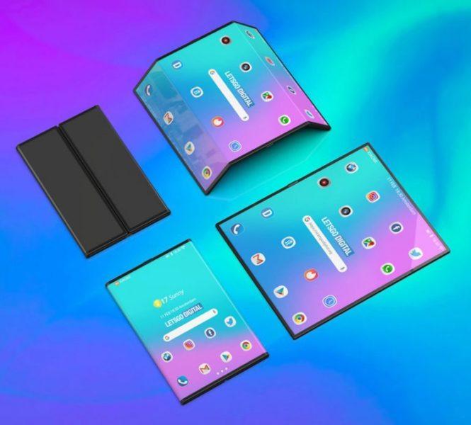 Рендеры девайса двойного сложения от Xiaomi Xiaomi  - mi1