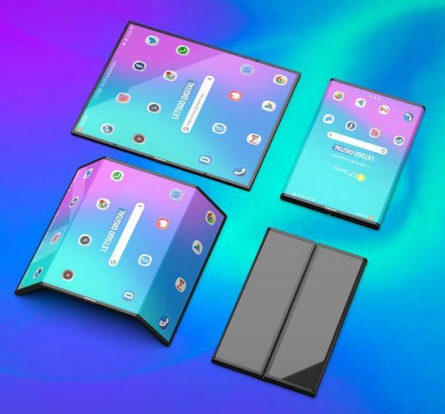 Рендеры девайса двойного сложения от Xiaomi Xiaomi  - mi3