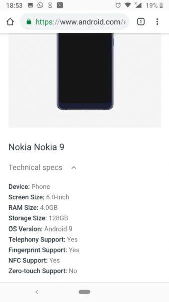 Google раскрыл подробности нового Nokia 9 PureView Другие устройства  - sm.03.400