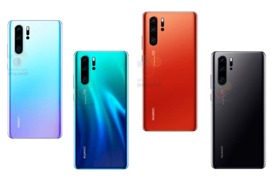 Стали известны технические характеристики Huawei P30 Huawei  - Huawei-P30-Pro-colors