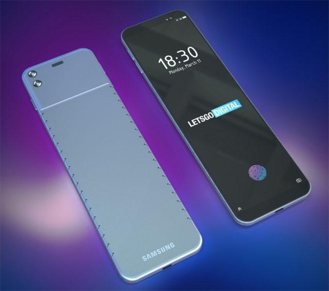 Samsung думает на смартфоном-браслетом для ношения на запястье Samsung  - bend4