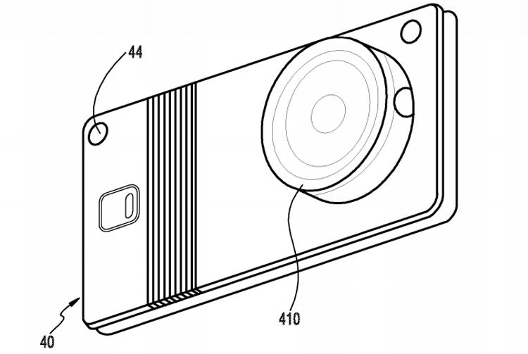 В Samsung запатентовали гибкий девайс со съёмной камерой Samsung  - flex1