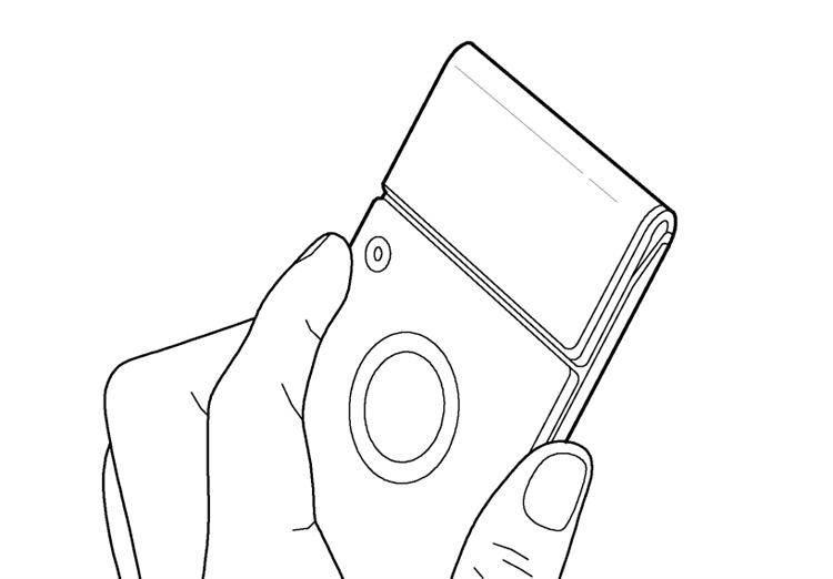 В Samsung запатентовали гибкий девайс со съёмной камерой Samsung  - flex4