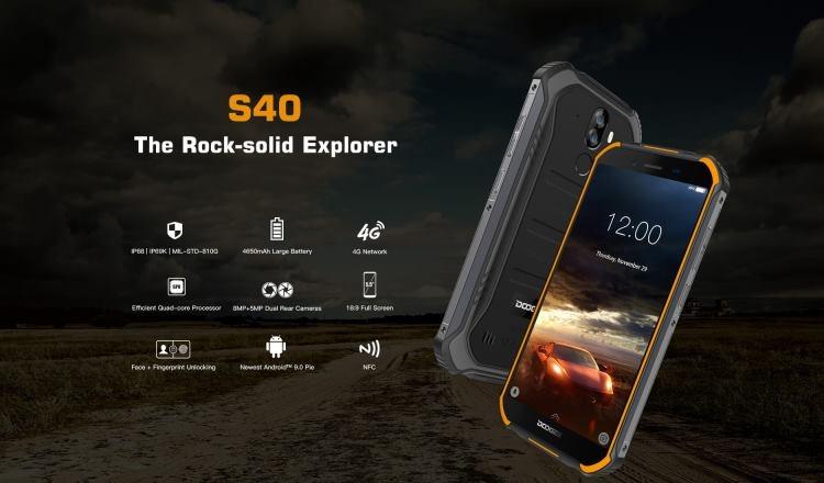 Защищённый Doogee S40 на 4650 мА·ч можно купить за $100 Другие устройства  - s40_01