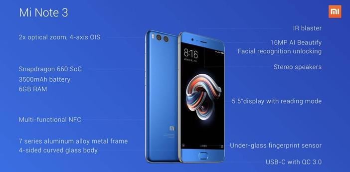Xiaomi: все модели начиная от недорогих до флагманов Xiaomi  - Mi-Note-3-Specs