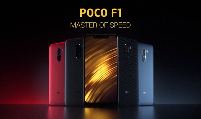 Xiaomi: все модели начиная от недорогих до флагманов Xiaomi  - PocoPhone-F1-all-color
