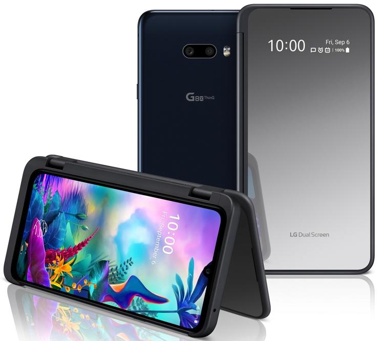LG G8X ThinQ с улучшенным чехлом Dual Screen и 2-мя экранами LG  - lg2-1