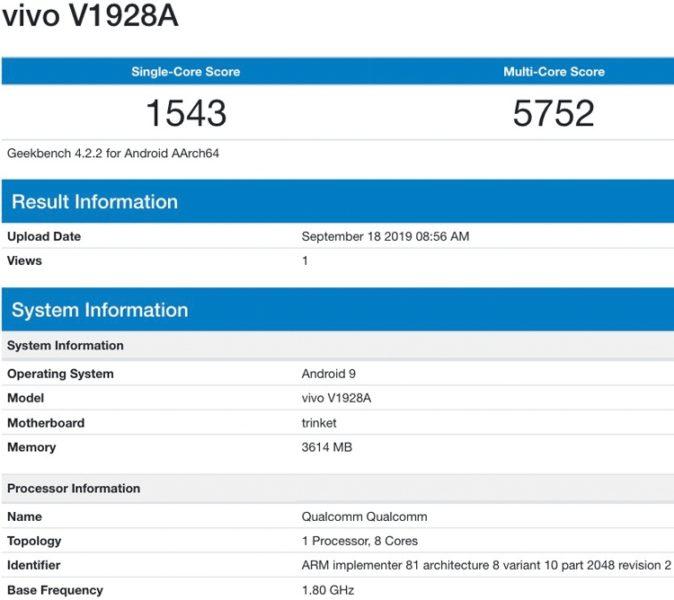 Vivo U10 был замечен со Snapdragon 665 Другие устройства  - vivo2-1