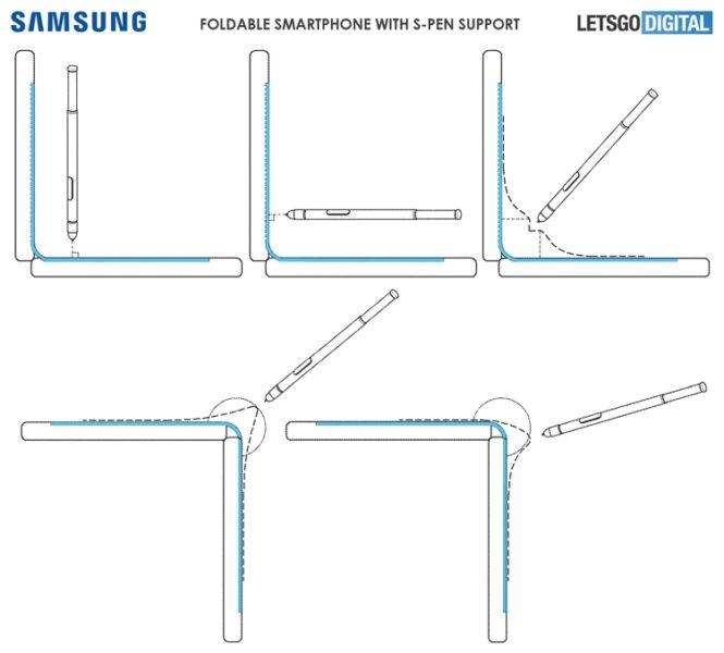 Samsung подумывает о гибком девайсе с поддержкой пера S Pen Samsung  - fold2-1