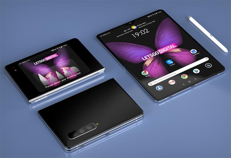 Samsung подумывает о гибком девайсе с поддержкой пера S Pen Samsung  - fold3