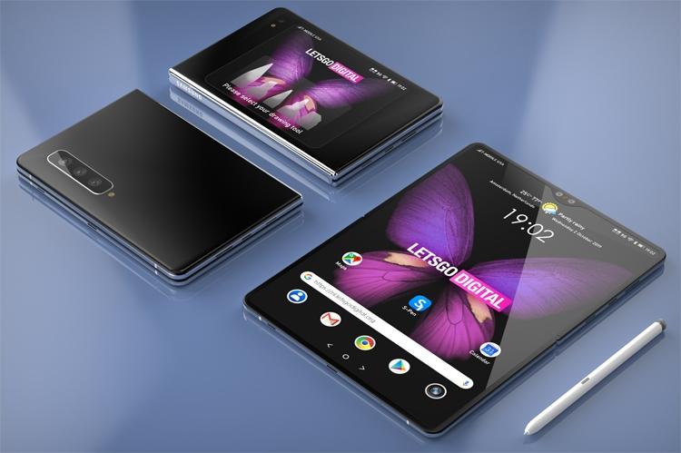 Samsung подумывает о гибком девайсе с поддержкой пера S Pen Samsung  - fold5