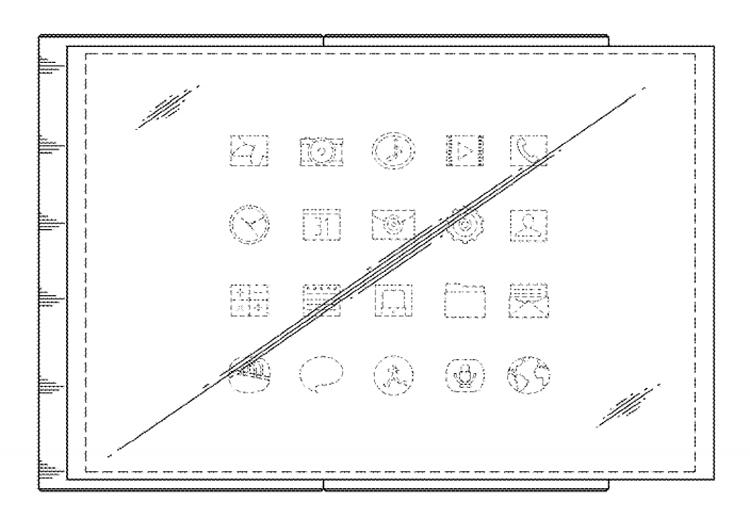 Samsung: патент на смартфон с необычным гибким дисплеем Samsung  - dd1