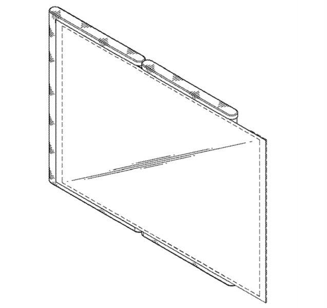 Samsung: патент на смартфон с необычным гибким дисплеем Samsung  - dd2